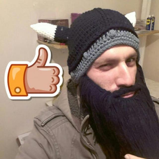 Winter Fashion Wig Beard Hats Hobo Mad Scientist Rasta Knit Warm Cap Men  Women Halloween Gift b455fc736a6b