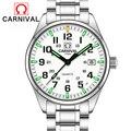 Карнавал T25 Тритий Светящиеся Часы для мужчин военные мужские s часы лучший бренд класса люкс кварцевые наручные часы Мужские часы Relogio Masculino