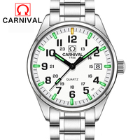 Carnival T25 Tritium Luminous Watch Men Military Mens Watches Top Brand Luxury Quartz Wristwatch Male Clock Relogio Masculino
