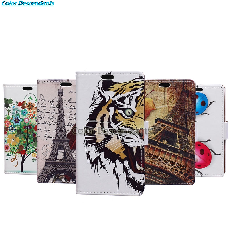 For Alcatel 3X Case Maple Tower Leather Wallet Flip Cover sFor Alcatel 3X Dual SIM 5058i 5058Y 5.7 Mobile Phone Bag Cases Funda