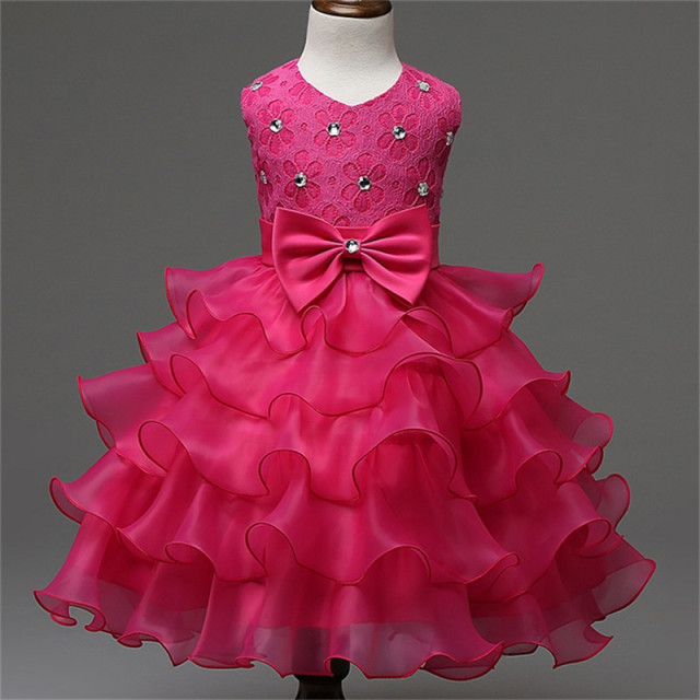 Baby Girl Party Frocks Designs Kids Clothes Summer Brand Girl Dress