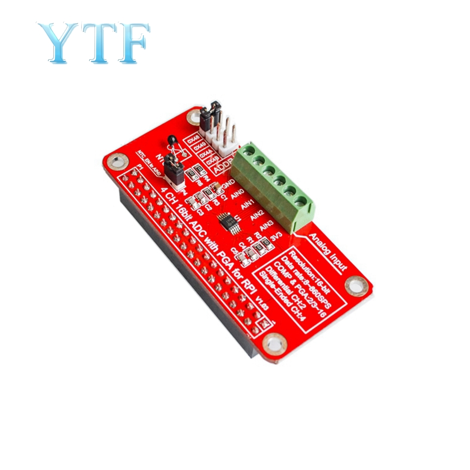 3.3V ADS1115 ADC Module For Raspberry Pi 3/2 / B + Zero I2C RPI ADS1115 ADC Analog To Digital Converter