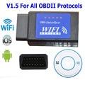 Blue Label ELM327 Wi-Fi Сканер Авто OBD2 Диагностический Инструмент ELM 327 WI FI OBDII Сканер V 1.5 Беспроводной Как Для Android IOS PC LR25