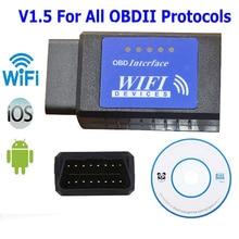 Blue Label ELM327 Wifi Scanner Auto OBD2 Diagnostic Tool font b ELM b font 327 WI