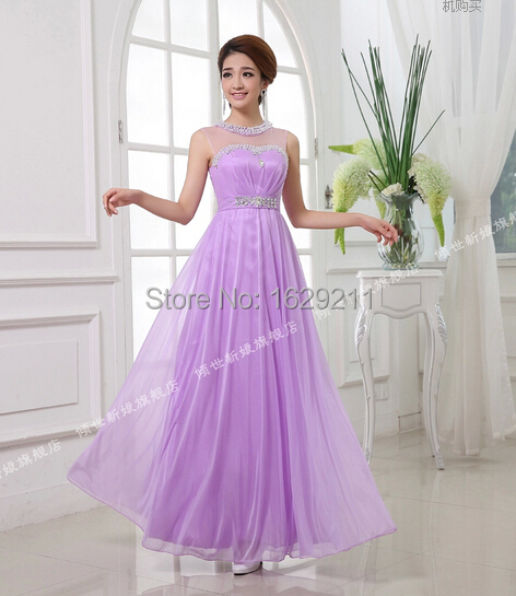 Lilac / Lavender / Purple Long Beaded Tank Junior Bridesmaid Dress Wedding  Guest Dress In Bridesmaid Dresses From Weddings U0026 Events On Aliexpress.com  ...
