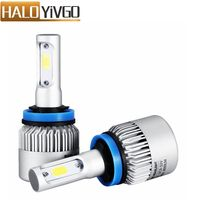 1Pair H8 H9 H11 COB LED Car Headlight Bulb 72W 8000LM All In One Car 12V