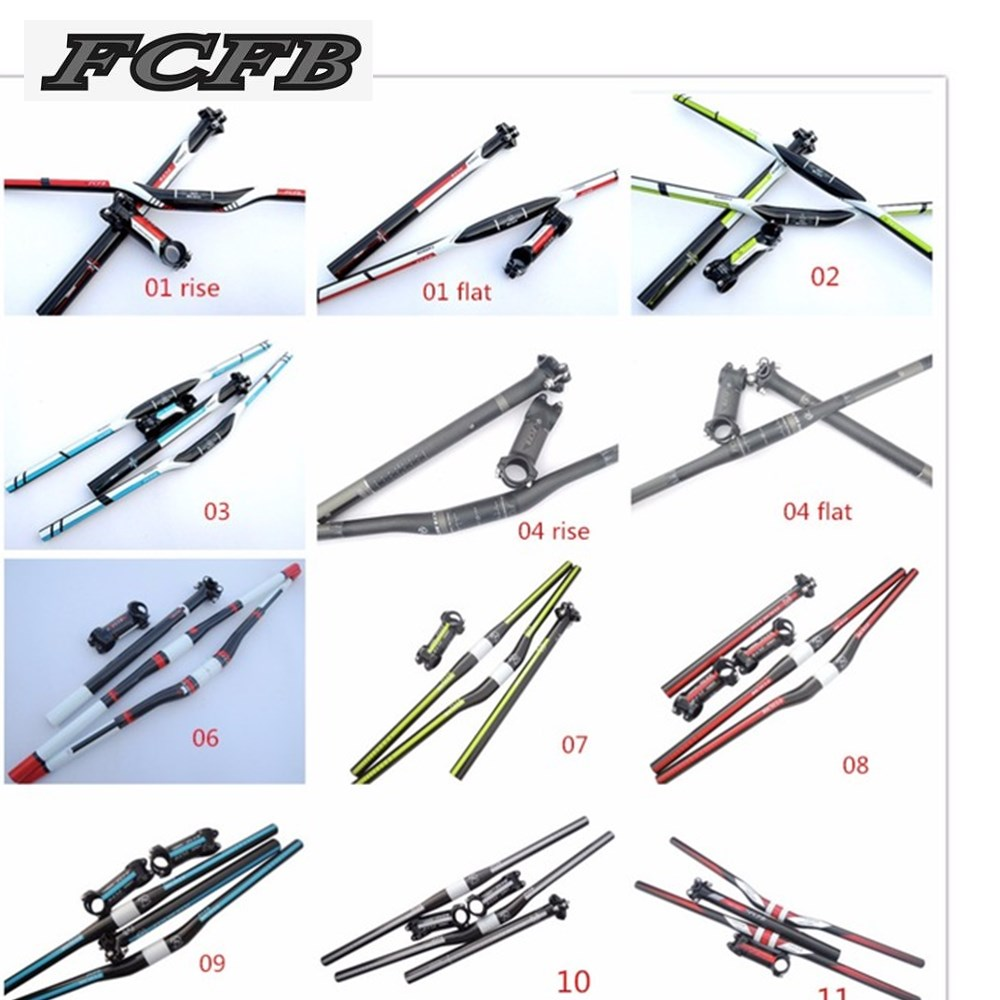 One year warranty   FCFB  10 kinds carbon handlebar set mtb bike handlebar + seatpost + stem + 1 lot higher caps = perfect set 90 90 216 0774006 216 0728014 216 0728016 216 0772000 216 0772034 216 0729042 216 0729051 216 0810005 216 0833000 stencil