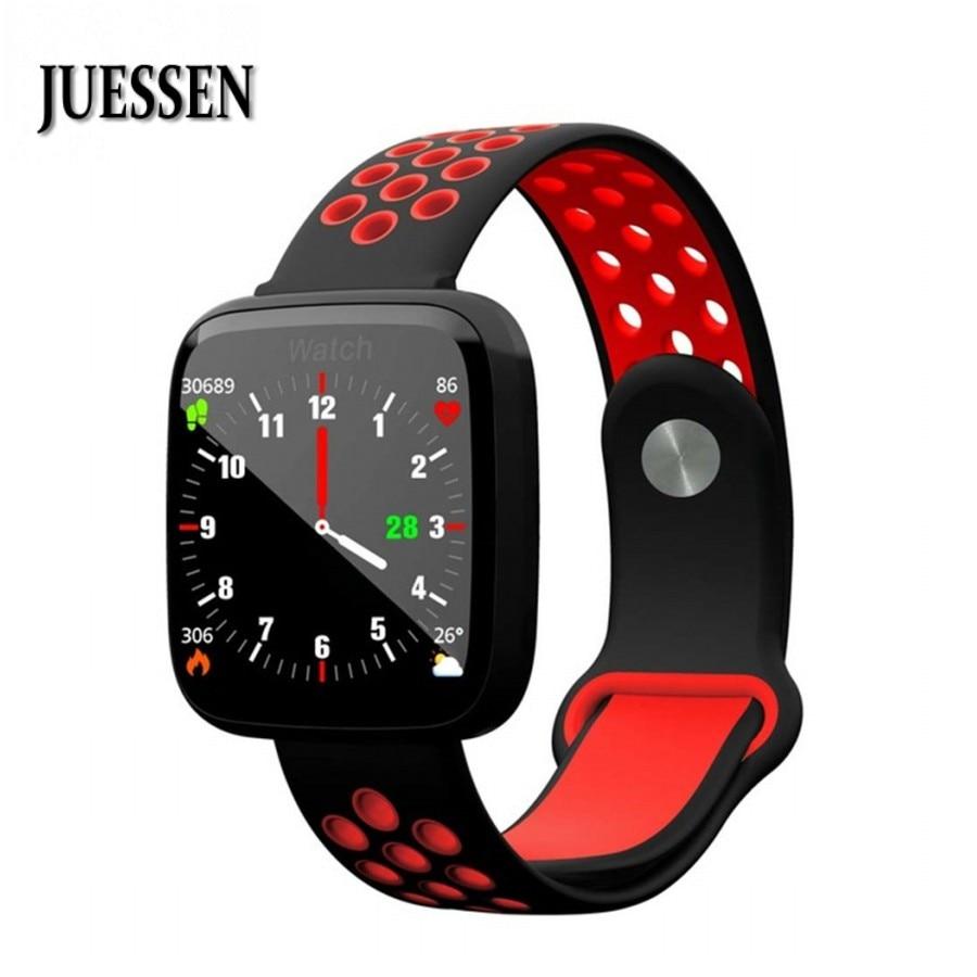 Fitness F15 Smart Uhr IP68 Wasserdichte Schwimmen SmartWatch Herz Rate Blutdruck Blut Sauerstoff Armband Für Android & IOS