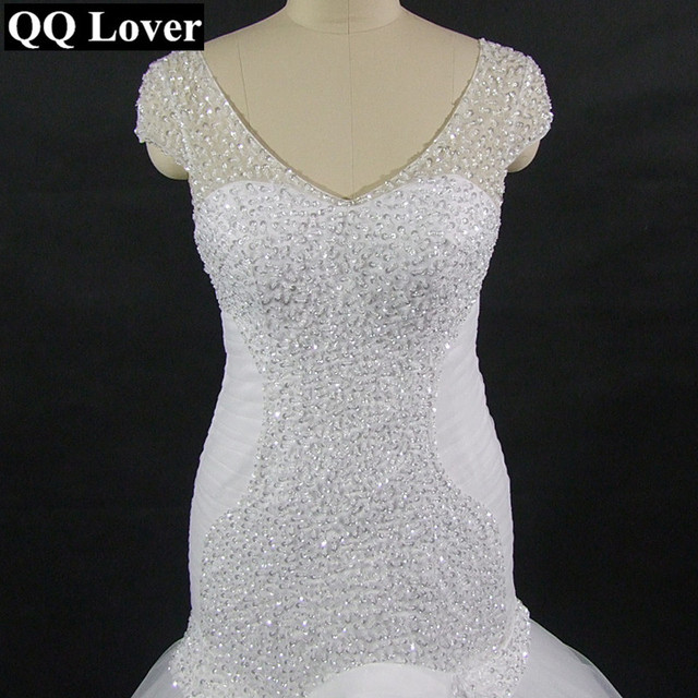 QQ Lover New Mermaid Wedding Dress With Video Custom made African ...