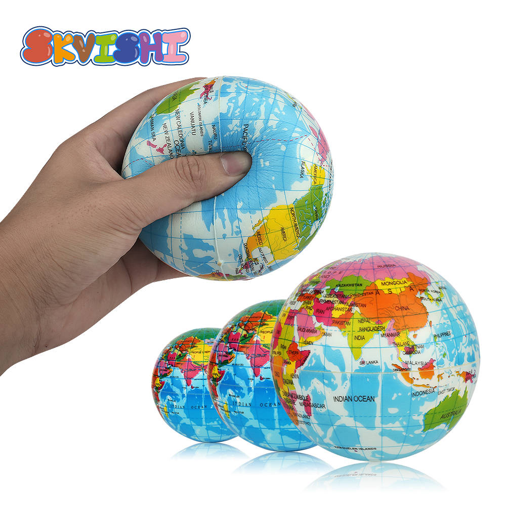 squishy toy soft squish popular surprise kids sports Stress Relief antistress Decor World Map Foam Earth novelty gag toys Ball(China)