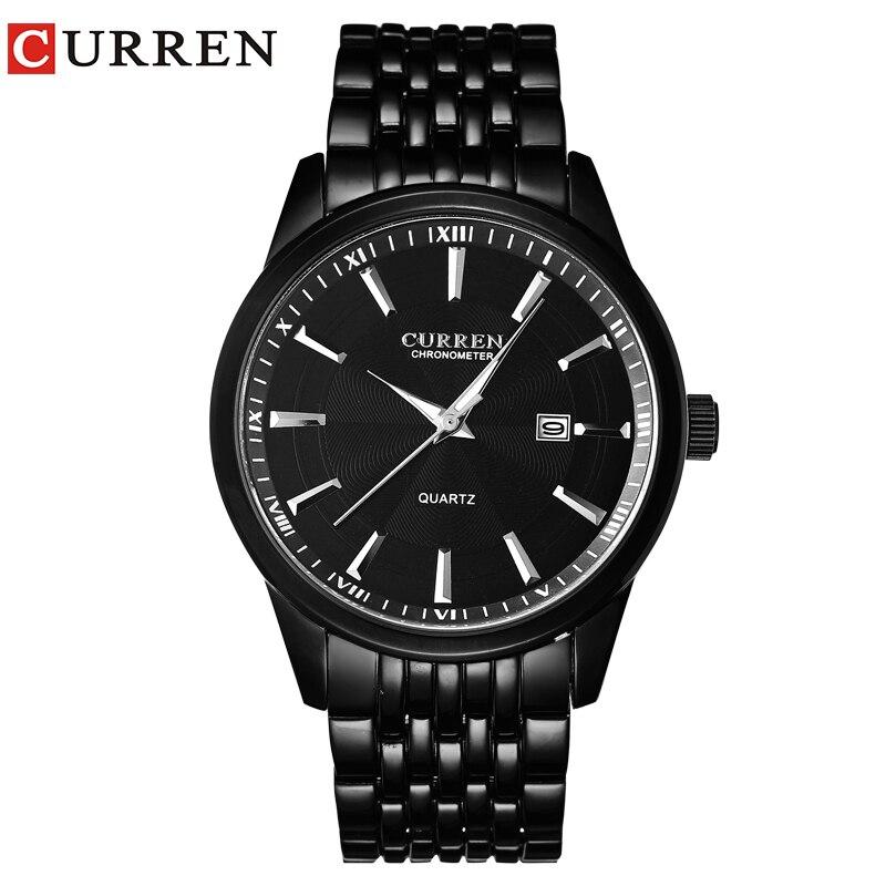 CURREN часы Для мужчин Элитный бренд Бизнес Повседневное часы кварцевые часы Relógio masculino8052