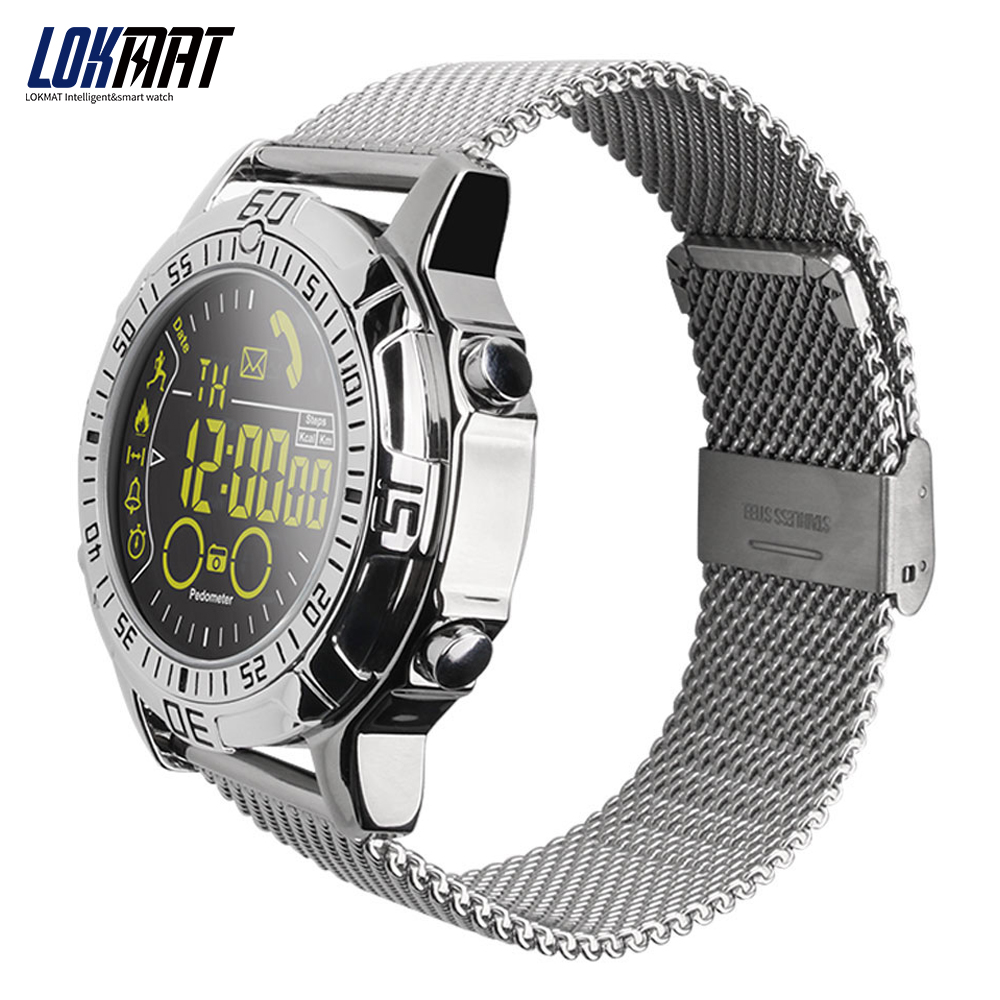 LOKMAT Smart watch Waterproof Outdoor Sport digital clock Relogio Masculino Bluetooth Smartwatch Men watch For ios android phone