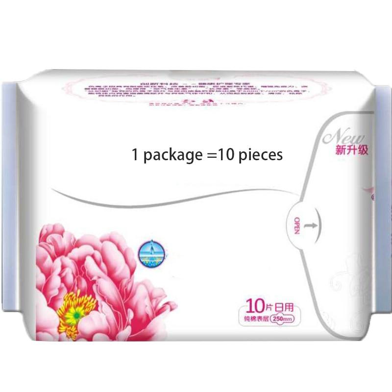 10 pack of high quality anion sanitary female menstrual period nursing pad, sanitary pads