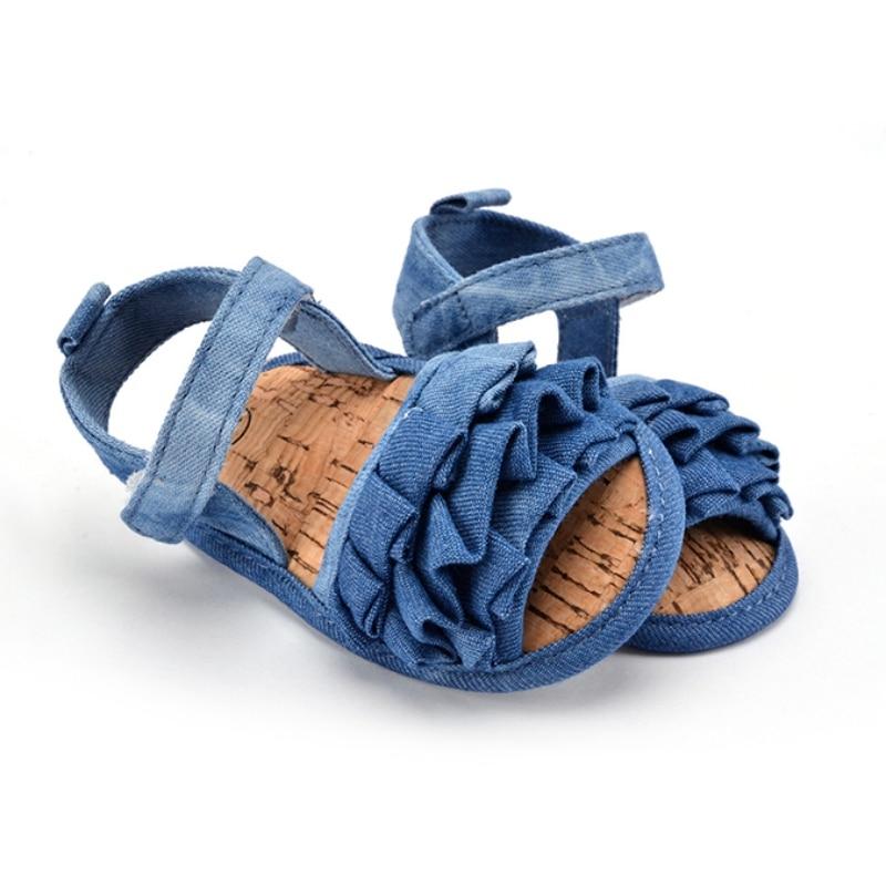 0-18 Months Baby Kids Girl Soft Sole Crib Anti-slip Solid Toddler Newborn Shoes S2