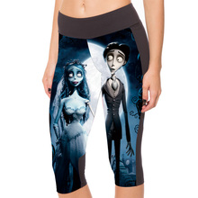 New 1059 Sexy Girl Women Ghost Corpse Bride 3D Prints Workout Fitness Stretchy Elastic Cropped Trousers Leggings Pocket Pants