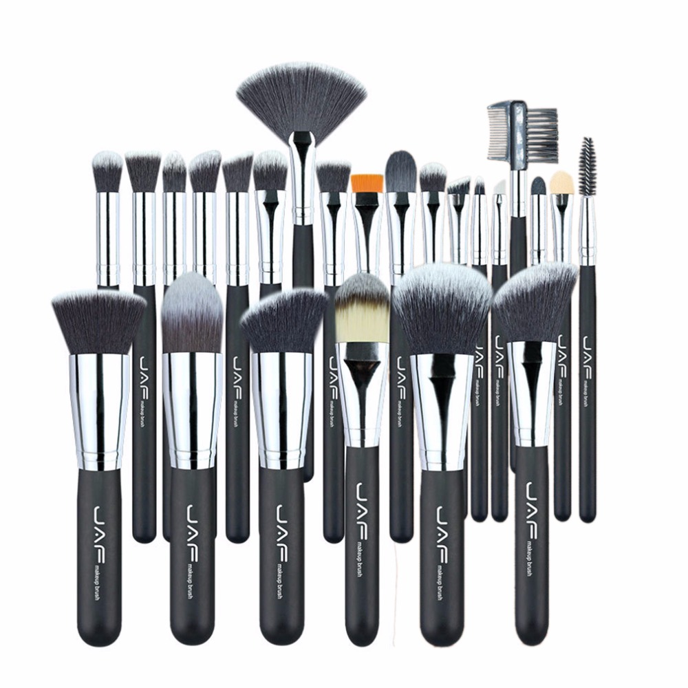 все цены на JAF Brand Professional Makeup Brushes Set Kit Lip Powder Foundation Blusher Eye shadow Eyelashes Concealer Brush Tool 24pcs/set онлайн