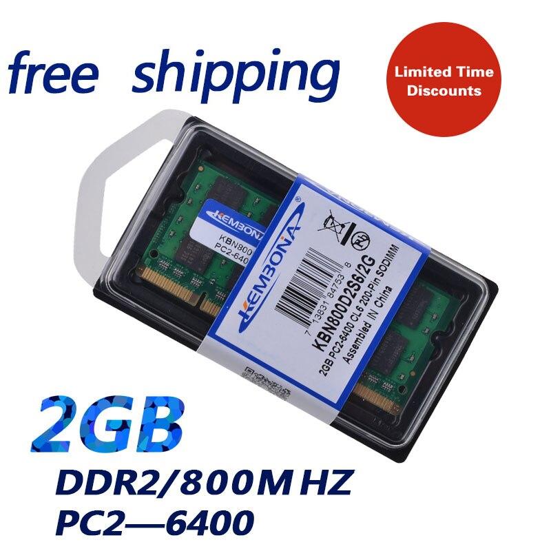 KEMBONA Marque New Sealed DDR2 800 Mhz 2 GB PC2 6400 2 GB 200pin (pour tous les carte mère) ordinateur portable RAM Mémoire/Livraison Gratuite!!!