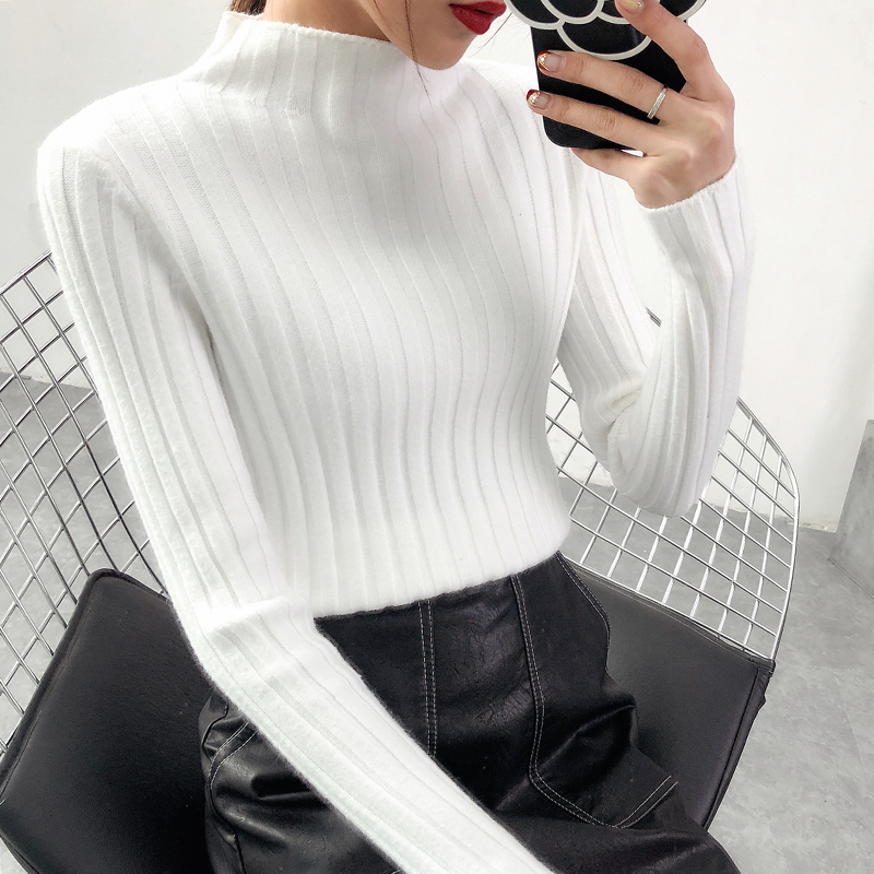 VARERCEE Turtleneck And Pullover Sweater women 2018 Winter Hot Keep Warm Sweaters female top Long sleeve striped knitted jumper