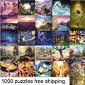 Different Kinds Adult 1000 Pieces Puzzle Landscape and Cartoon ersion jigsaw puzzle On Sale with free shipping