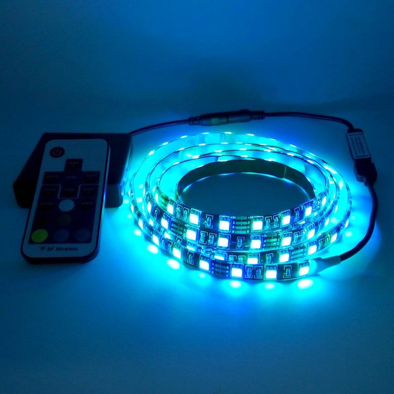 Taśma LED na baterie 5050 RGB 5V Czarna taśma PCB Oświetlenie - Oświetlenie LED - Zdjęcie 2