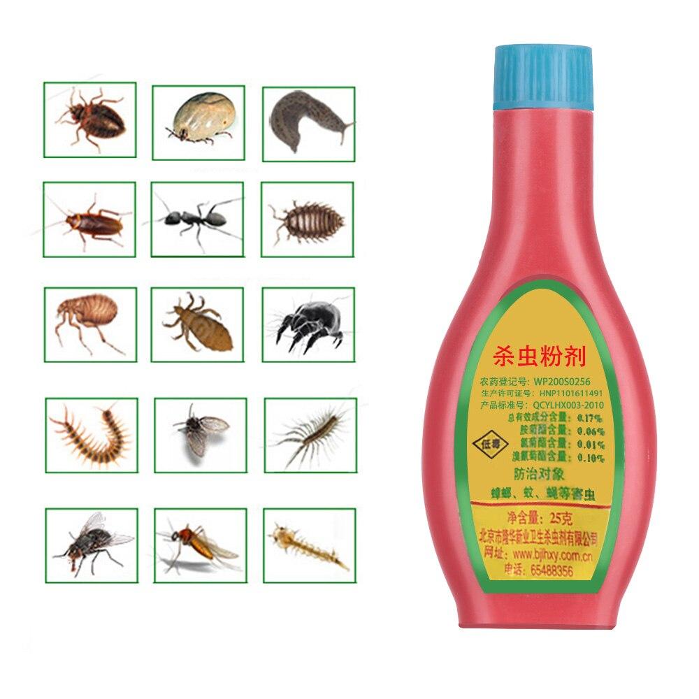 Горячая 25 г эффективная убийца приманка для уничтожения тараканов против жуков порошок инсектицид насекомое лекарство белая медицина откл...