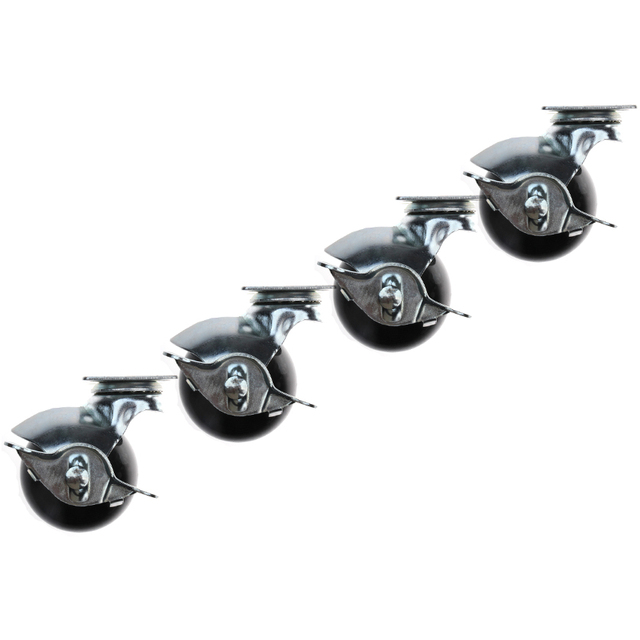 4pcs Black 360 Degree Casters For Furniture Universal Sofa Caster Chair Office Swivel