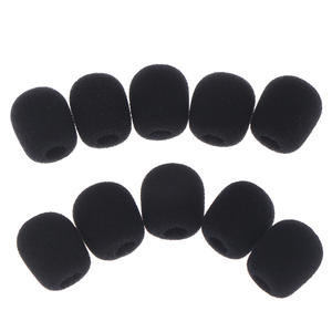10pcs Headset Replacement Foam Microphone Cover Telephone Headset Mic Cover Microphone Windscreen Windshied Headset Foam 25*8mm