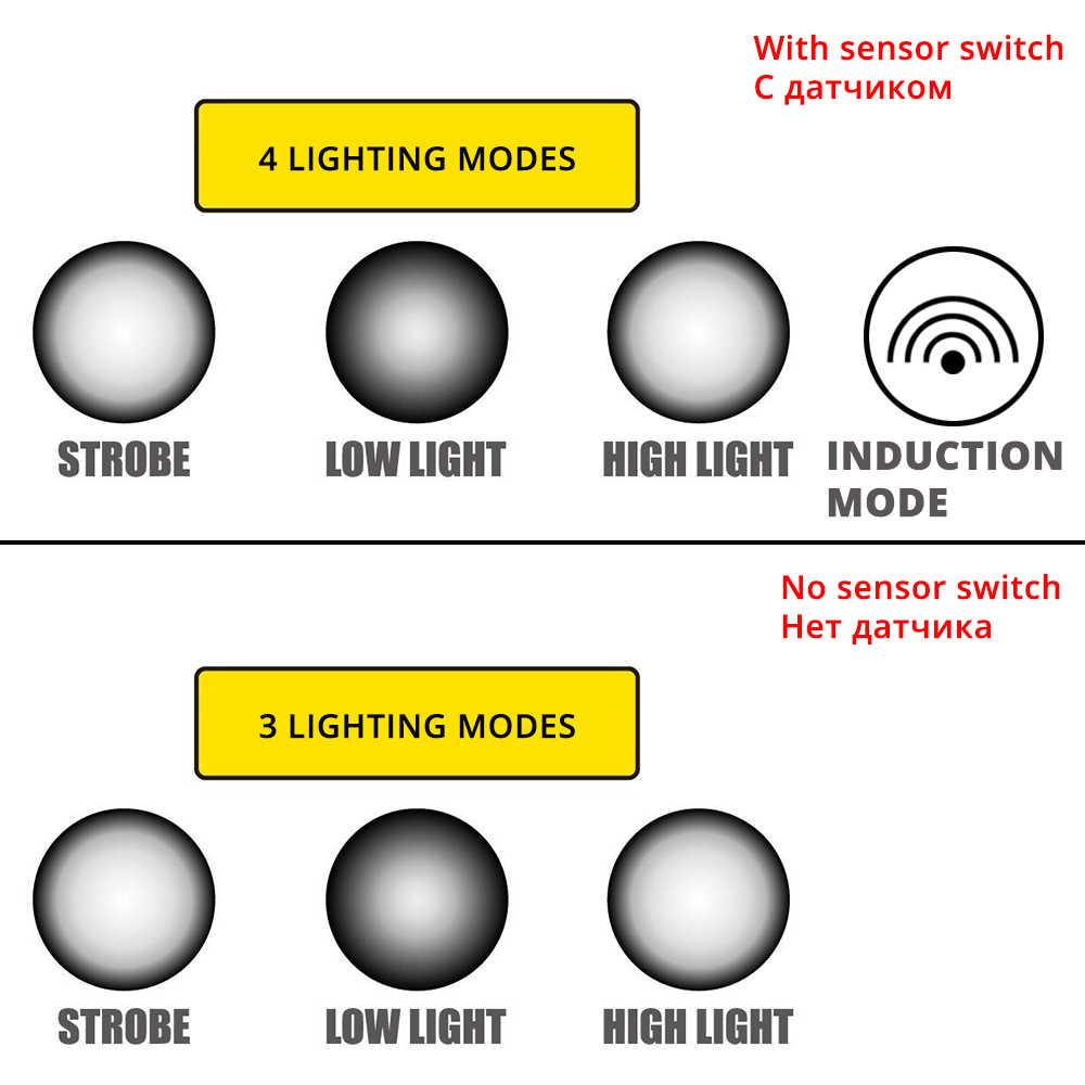 LED Faro de pesca faro T6/L2/V6 3 modos de Zoomable impermeable Super brillante luz de camping de 2x18650 baterías