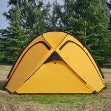 Hillman qingyun 4 people 1 room hall large outdoor aluminum pole camping travel rain proof I tent
