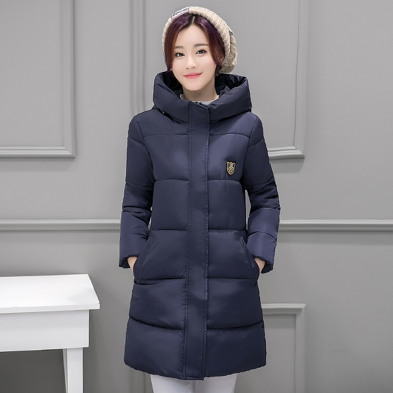 winter coat women Slim Elegant Thick Warm with a Hooded Cotton Jacket female casual parka jackets plus Size M-3XL 8817