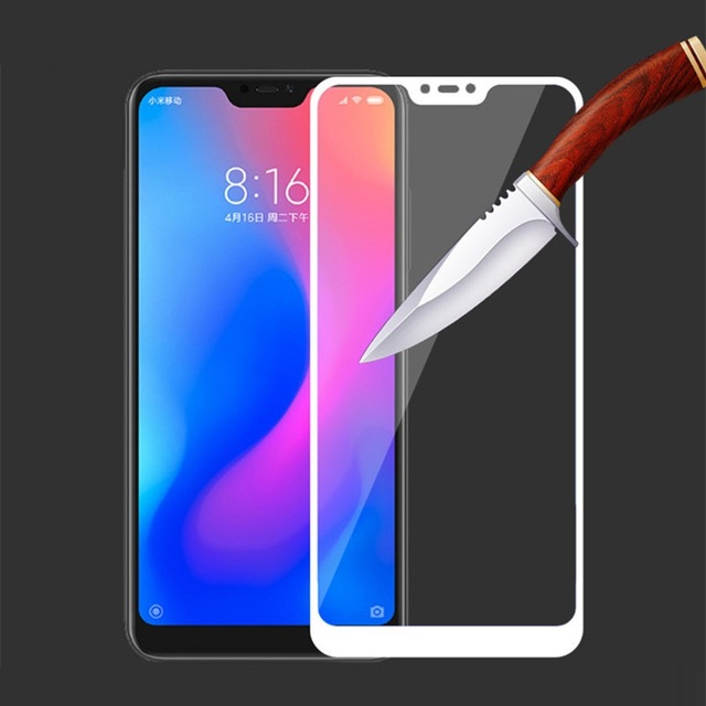 Mi A2 Lite Screen Protector for Xiaomi Mi A2 Lite Tempered Glass HCCZ High quality 2.5D 9H HD Full Cover Protective film