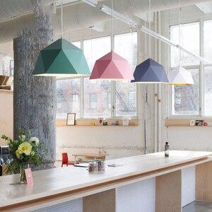 Image 4 - Современные подвесные светильники в скандинавском стиле, промышленная Подвесная лампа, красочный подвесной светильник, железная Подвесная лампа для столовой, кухни, гостиной, бара