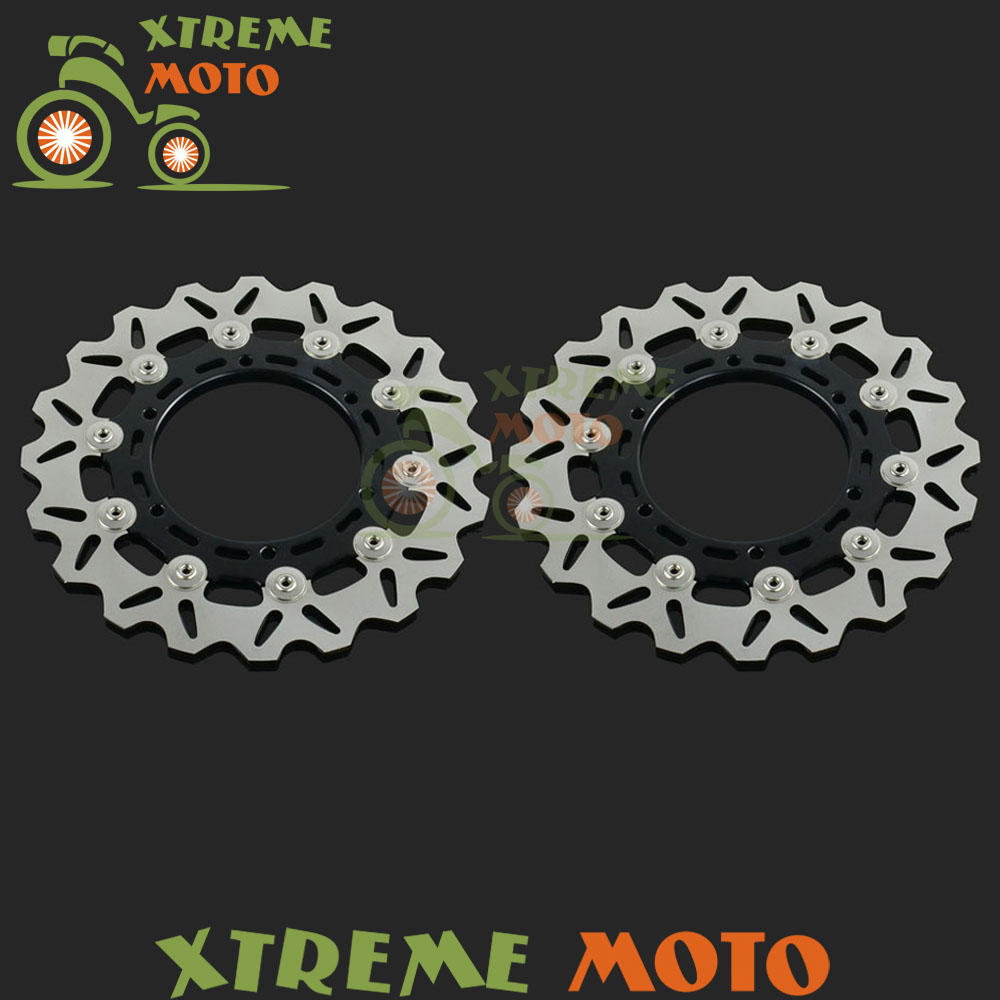 2Pcs Motorcycle Front Floating Brake Disc Rotor For XJ600N TDM900 BT 1100 Fazer1000 FZS YZF R1 XJR1300 XVS1300 XV1700 XV1900 keoghs real adelin 260mm floating brake disc high quality for yamaha scooter cygnus modify