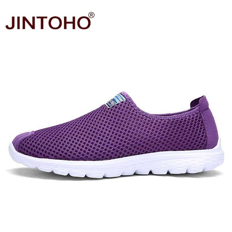 Jintoho Unisex Zomer Ademende Mannen Schoenen Lichtgewicht Mannen Flats Mode Toevallige Mannelijke Schoenen Merk Designer Mannen Loafers