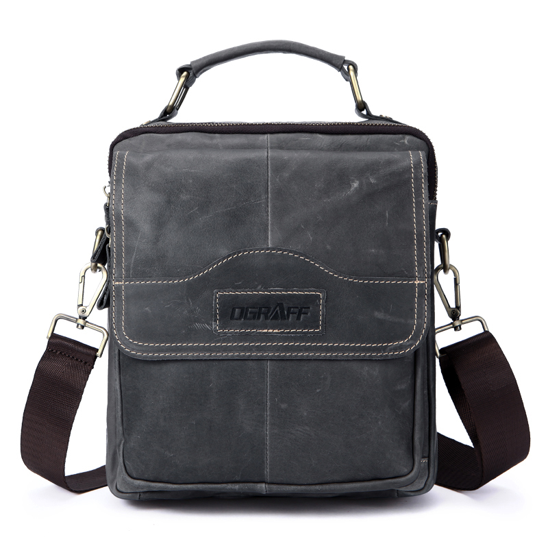 OGRAFF Genuine Leather Men Bag Men Messenger Bags Small Shoulder Bags Crossbody Bag Men's Leather Handbag Men Briefcase Travel-in Crossbody Bags from Luggage & Bags    1