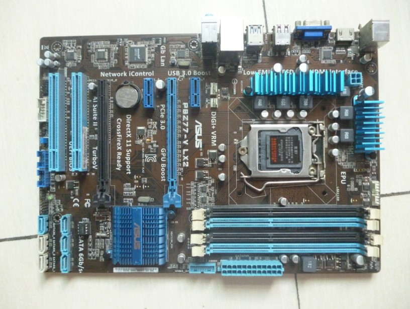 Used,for Asus P8Z77-V LX2 Desktop Motherboard Z77 Socket LGA 1155 i3 i5 i7 DDR3 32G SATA3 USB3.0 ATX цена