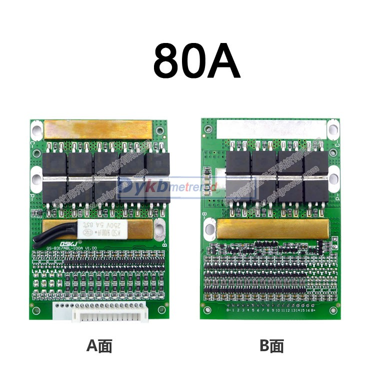 Image 4 - DYKB 6S  13S 35A 50A 80A w/Balance BMS LiFePO4 Li ion lithium battery protection 24V 36V 48V 7S 8S 10S 12S electrical tool upsBattery Accessories   -