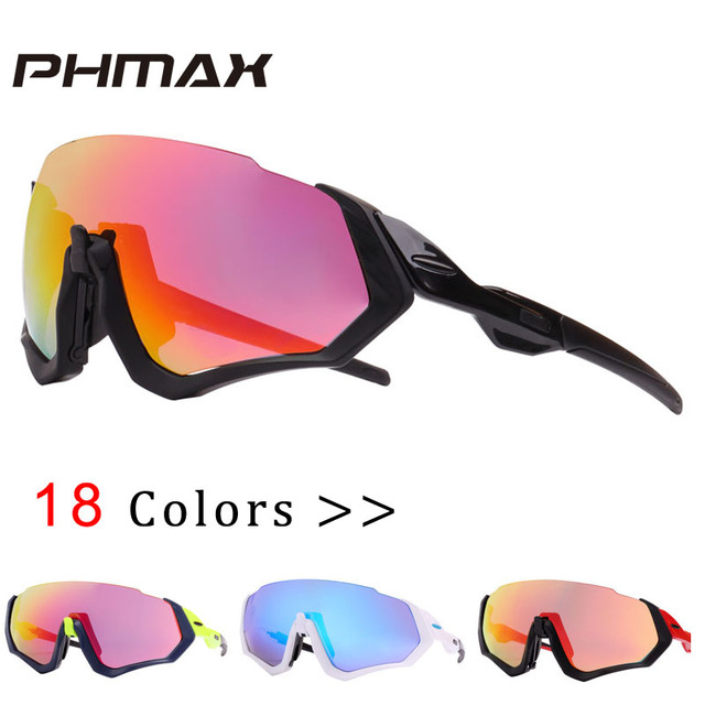 8645ac02e2 PHMAX Polarized Cycling Eyewear Cycling Glasses Bicycle Sunglasses TR90 Frame  Bike Sunglasses Riding Protection Cycling Goggles
