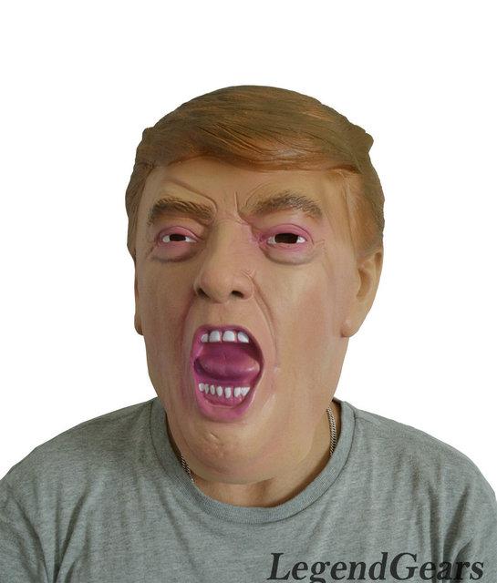 Caliente Realista Máscara De Látex Nuevo Presidente Donald Trump Humano Humano Máscara Máscara De Látex De Caucho
