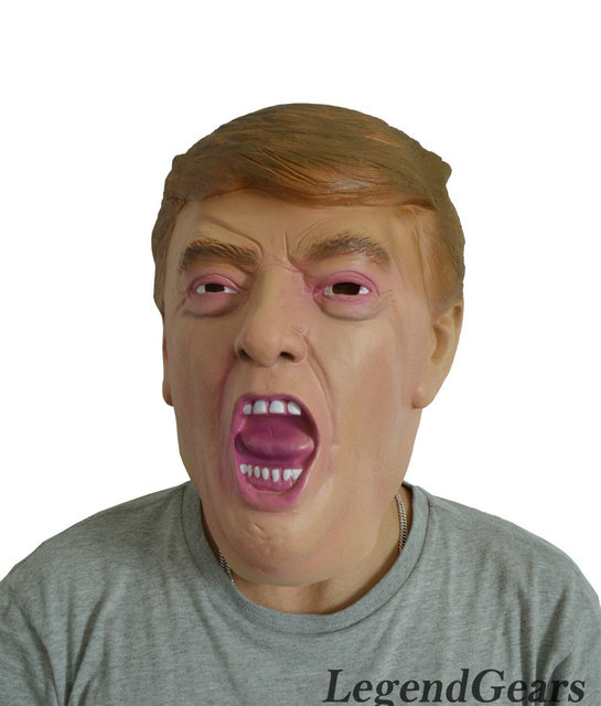 Hot Realistic Human Latex Mask New President Donald Trump Human Mask Latex Rubber Mask