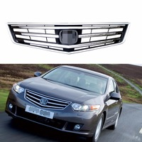 1Pcs Chrome Front Bumper Radiator Upper Grill Grille For Honda Accord 2009 2010