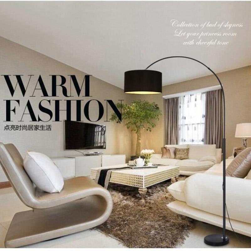 Modern fishing floor lamp for living room dimmable floor - Elegant floor lamps for living room ...
