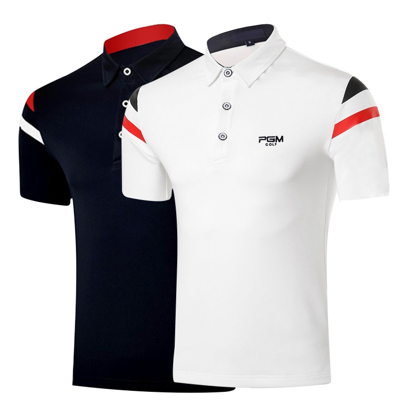 Golf Shirts Men Golf Clothing Men Short Sleeve Training T-shirt Men Fitness T Shirt Polo Summer Polo Tshirt PGM Free Shipping everio summer golf t shirt short sleeve polo shirt quick dry breathable golf wear 5colors