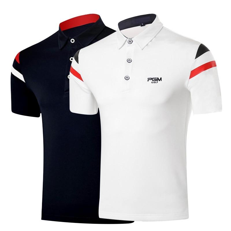 Golf Shirts Men Golf Clothing Men Short Sleeve Training T-shirt Men Fitness T Shirt Polo Summer Polo Tshirt PGM Free Shipping