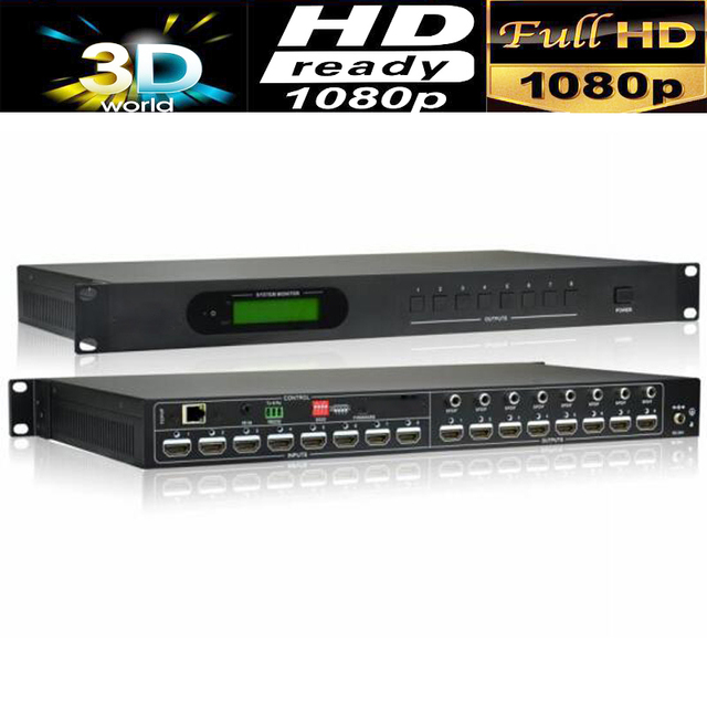 professional 4K HDMI Matrix 8X8 Matrix Switcher w/audio RS232 HDCP 2.2 Support HDMI 2.0 inputs and HDMI 1.4 outputs