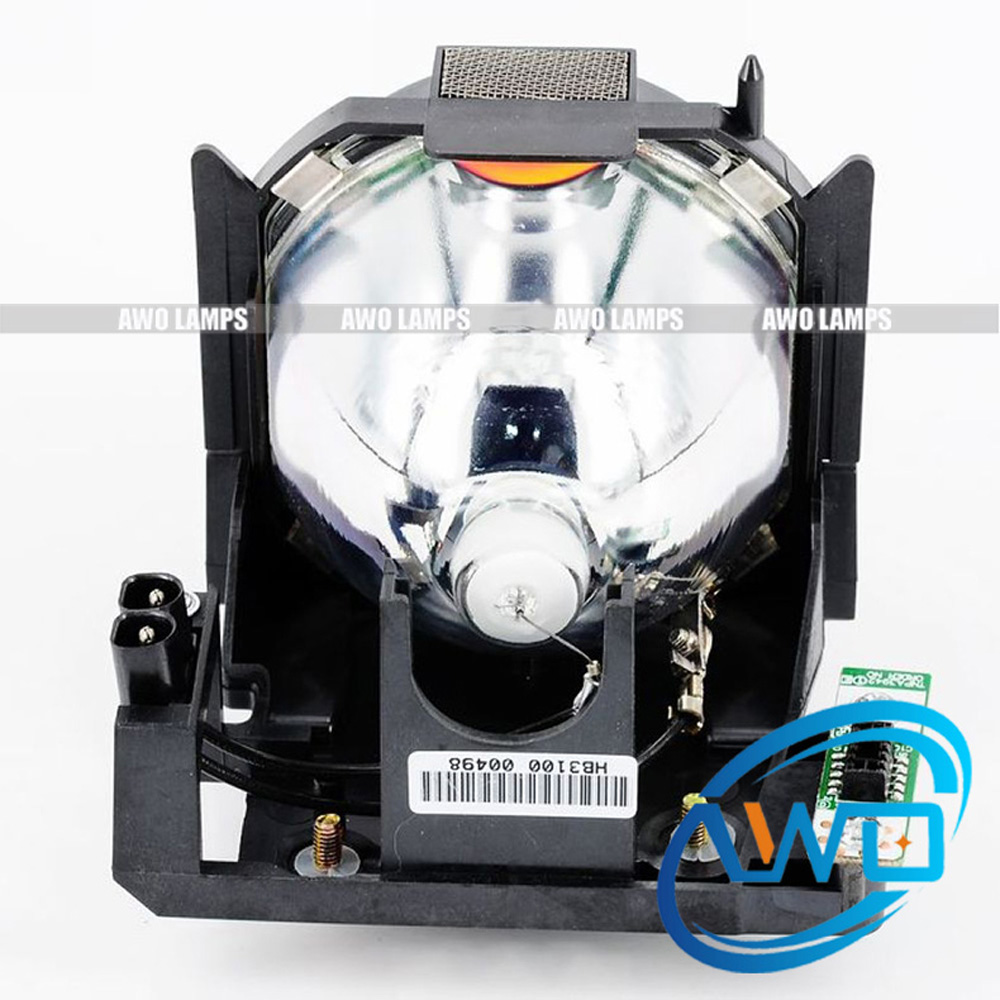 AWO ET-LAD60 Projector Replacement Lamp with housing for PANASONIC PT-D6000ELK D6000ULS DW530 DX500E DW640 DW740EK DW740ES DX610 original projector lamp et lab80 for pt lb75 pt lb75nt pt lb80 pt lw80nt pt lb75ntu pt lb75u pt lb80u