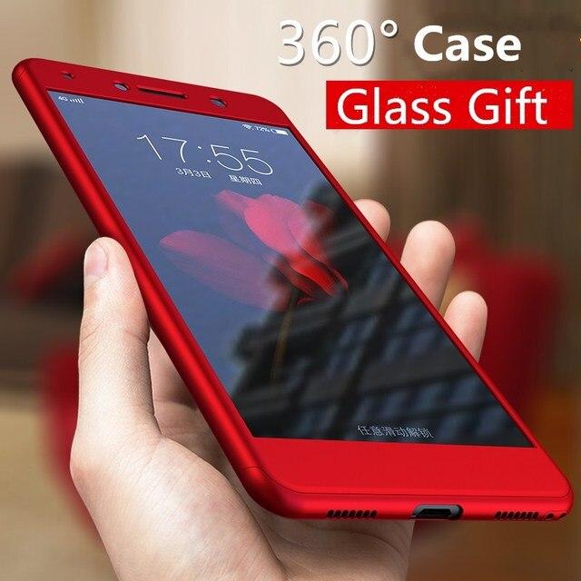 new concept e24de 5c3a1 RHOADA 360 Full Body Phone Cases for Huawei P9 Lite mini Y7 Prime Y7 2017  Y6 Pro 2017 Front Back Cover Para Fundas+ Glass Film