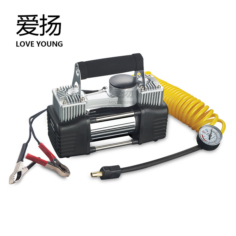 DC 12V Double Cylinders for Tire Electric Auto Air Compressor Air Pump for Inflate Tire