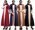 Abayas moda Muçulmana Vestido Vestido Longo Vestuário Islâmico Para As Mulheres Turcas Malaio Arábia Dubai Kaftan Estilo HSZ