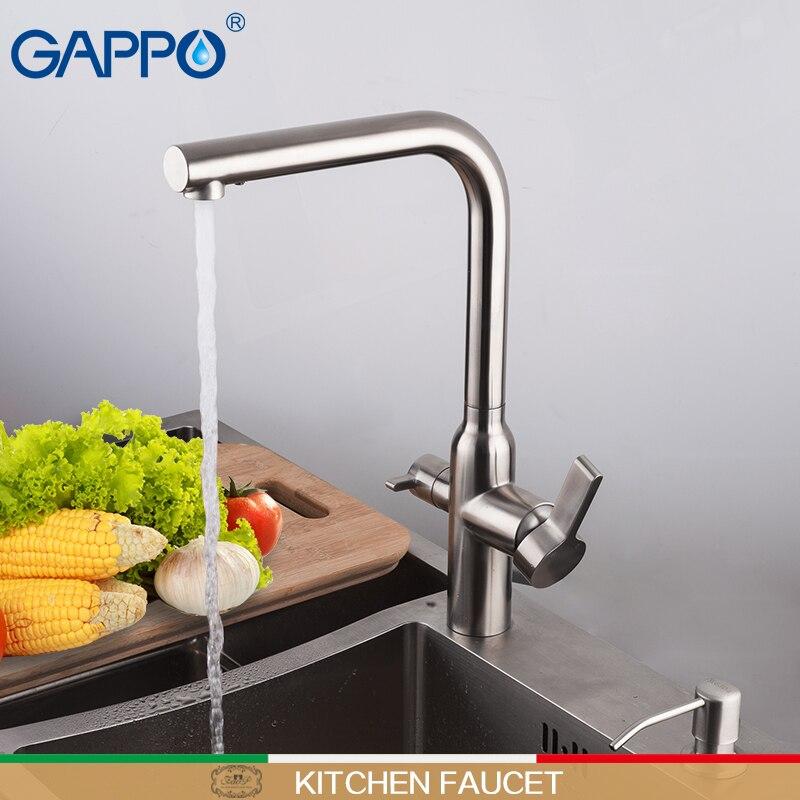GAPPO Cuisine Robinet d'eau en acier inoxydable évier grue cuisine robinet mélangeur filtre à eau du robinet évier de cuisine robinet